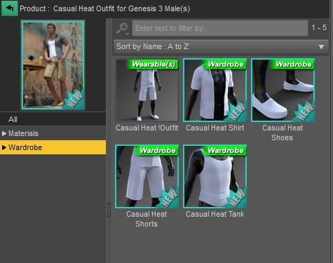 casual heat outfit contents