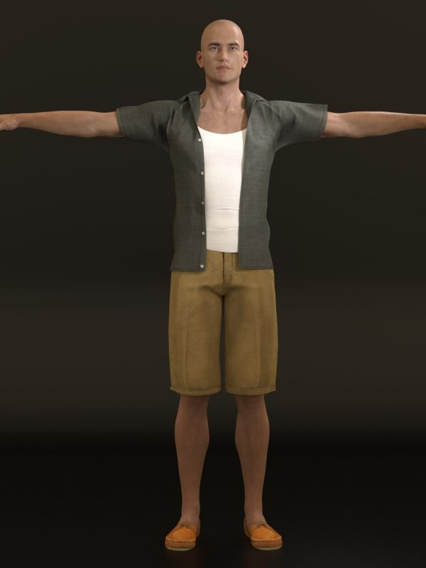 Casual Heat Outfit for Genesis 3 Males